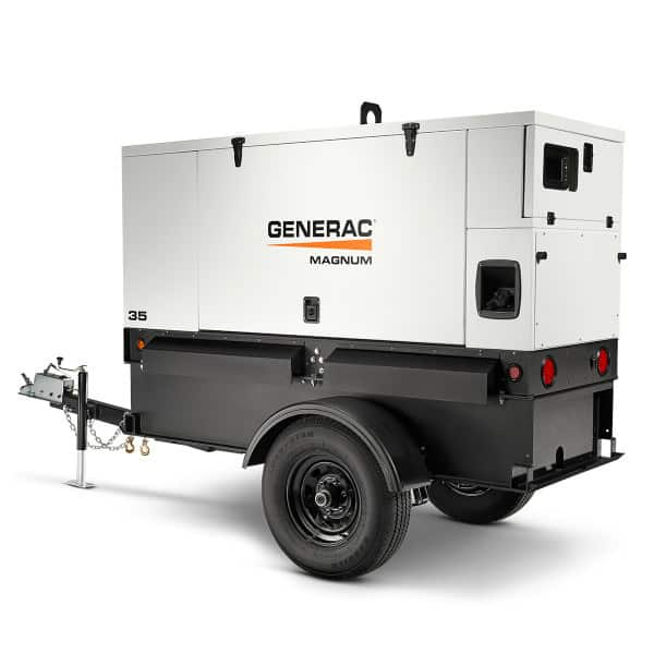 Generac 35kW Towable Mobile Diesel Generator Multi Phase With Voltage  Selector | MMG35DF4