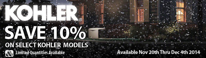 Kohler Instantly Save 10% Nov 20th Thru Dec 4th