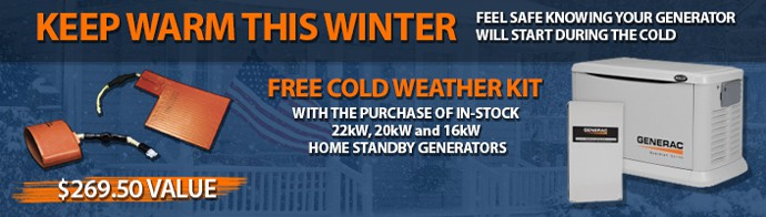 Free Cold Weather Kit With Select Generac Generators
