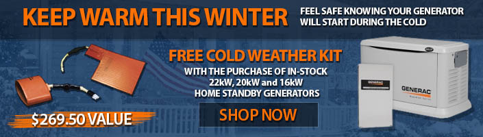 Free Cold Weather Kit With In Stick 16-22kW Generac Generac Generators