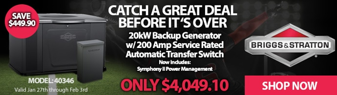 Briggs and Stratton Generator Sale