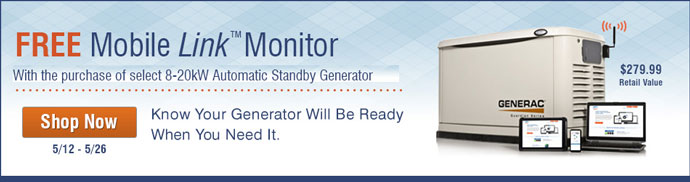 Generac Mobile Link Giveaway With Generator Purchase 6463