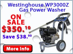 Westinghouse 3000 PSI Gas Pressure Washer CARB WP3000Z