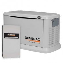 The Generac Guardian Series 20kW standby generators are designed to start and operate automatically during a power outage.