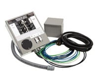 Pre-wired 30-Amp Manual Transfer Switch Kit Including Switch, Dedicated Cable, and Inlet box