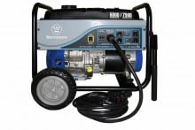 Westinghouse Portable 6000 watt generator pictured with included 25 foot power cord.