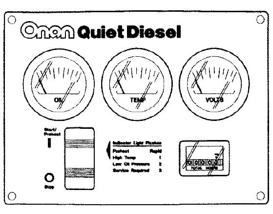 Cummins Onan Remote Gauge Panel RV QD 300 5027
