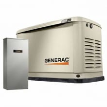 Generac Guardian 20kW Standby Generator with 200 Amp Whole House Automatic Transfer Switch | 7039