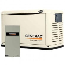 Generac Guardian 20kW Standby Generator NG/LP Steel Packaged with 200 Amp Service Rated ATS | 6729