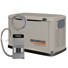 The Generac Model 6237 generator provides standby power in an emergency