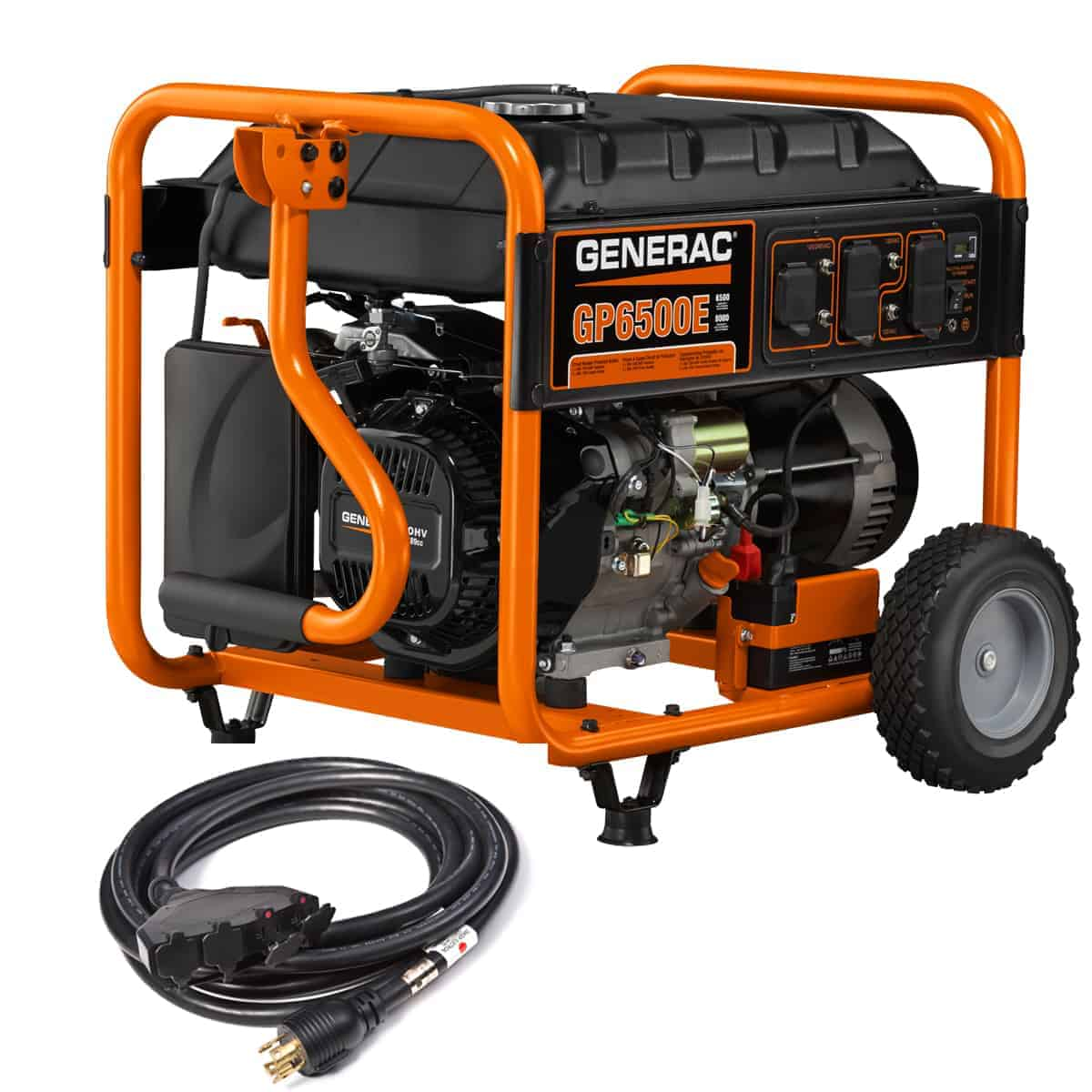 Generac Portable GP Series GP6500E Electric Start with 20 Ft Power Cord 6515