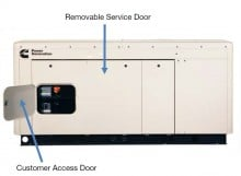 Quiet Connect Series 22kW, Natural Gas or Propane Easy Service and Installation