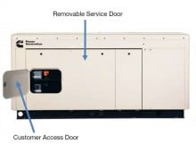 Quiet Connect Series 25kW, Natural Gas or Propane Easy Service and Installation