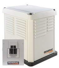 CorePower generator shown with 50-AMP ATS