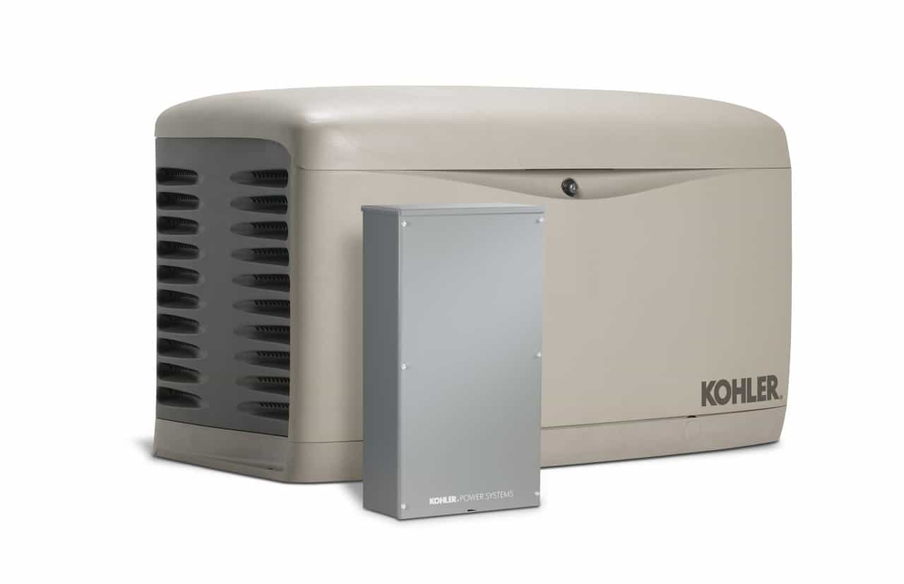 Kohler 14kW Air Cooled Standby Generator and 200 Amp SE Rated Automatic Transfer Switch | 14RESAL-200SELS